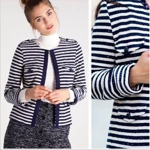 Banana Republic Striped Woven Blazer w/ Sequins